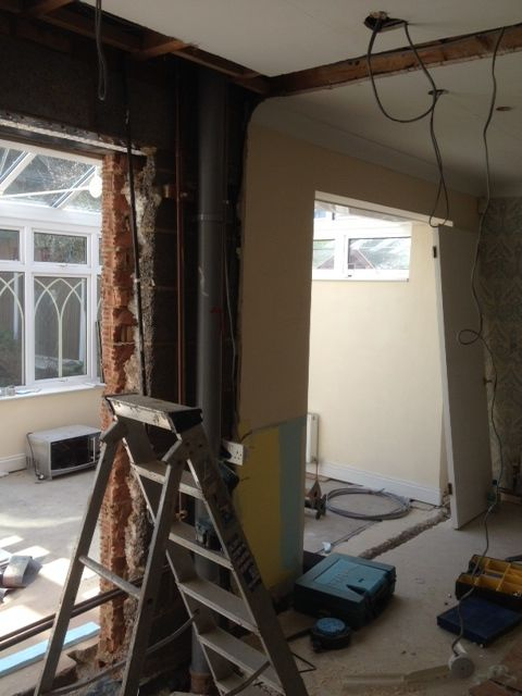 The new kitchen and utility room start to take shape
