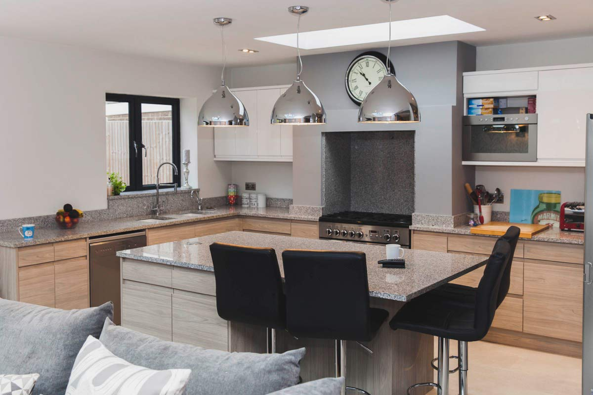 There is a great feeling of space in the kitchen and around the breakfast bar