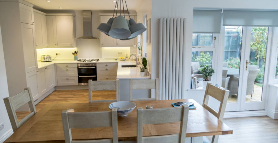 Montagu Gardens House Refurbishment: This beautiful family house refurbishment project comprised a new kitchen, utility and cloakroom. All rooms including the hallway had new flooring installed and were painted throughout.