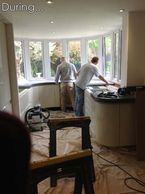 Work goes in with fitting the kitchen in Great Notley