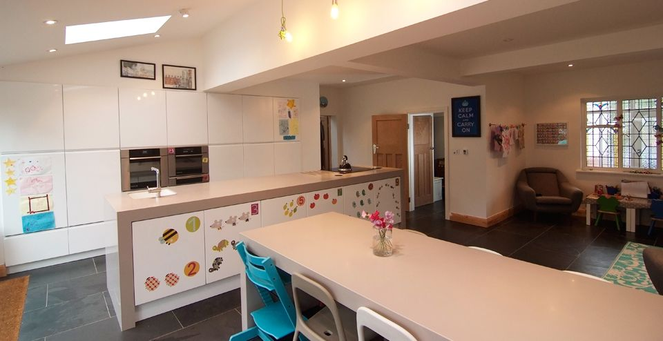 Image of This house in Leigh on Sea, Essex was extended to give room for a new kitchen and family living space