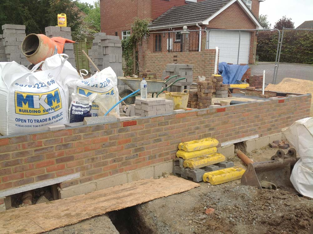 Image of Brickwork to D.P.C completed