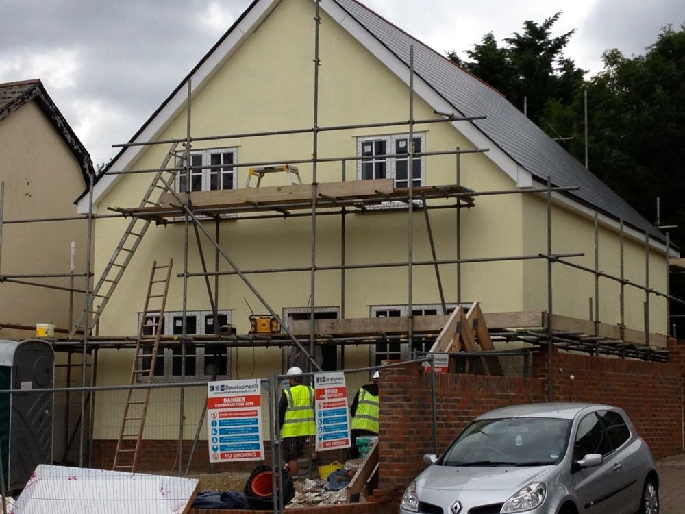 New build project in Witham looks more like a home now