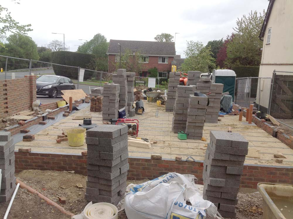 Witham New Build Project:  Walls, floor and damp proof course